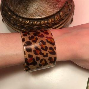 Marc Jacobs Lucite Leopard Cuff Bracelet